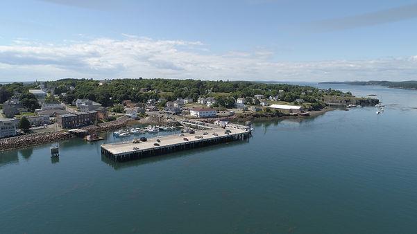 Eastport Maine wharf is close to Welshpool Landing Campobello Island New Brunswick
