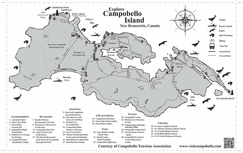 Campobello Island Trail Map