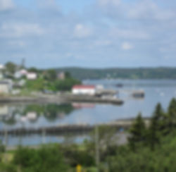 View from Campobello Island to Lubec