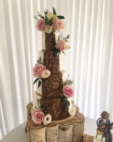 rustic wood cake