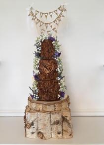 rustic wood effect cake