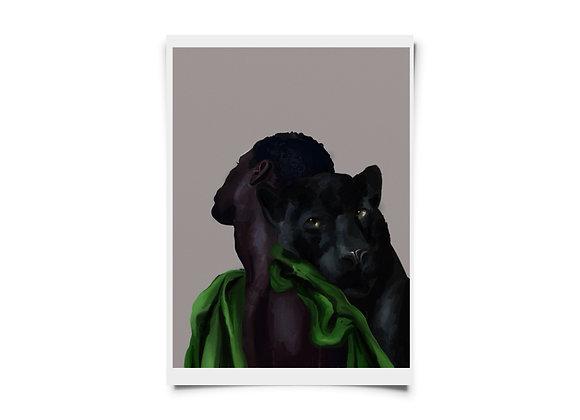 """Beloved Panther Child"" print"