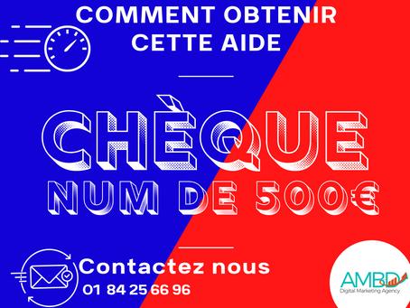 Chèque France Num : Aide de 500 € numérisation lors du 2ème confinement