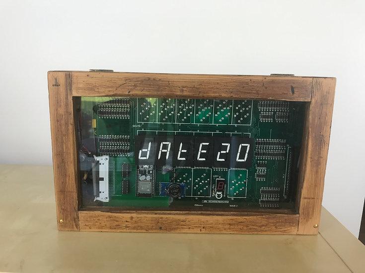 Electromechanical Flip Digit 7 Segment Display Clock