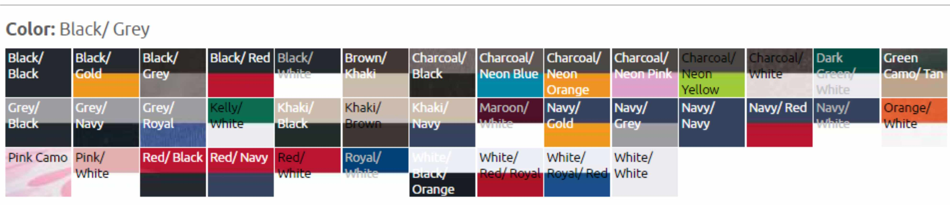 s102 color chart