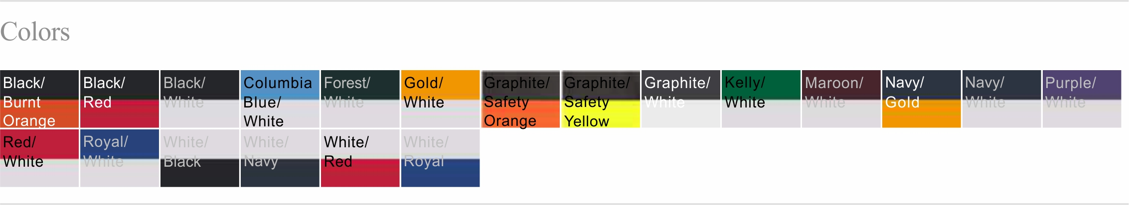 2144 Color Chart
