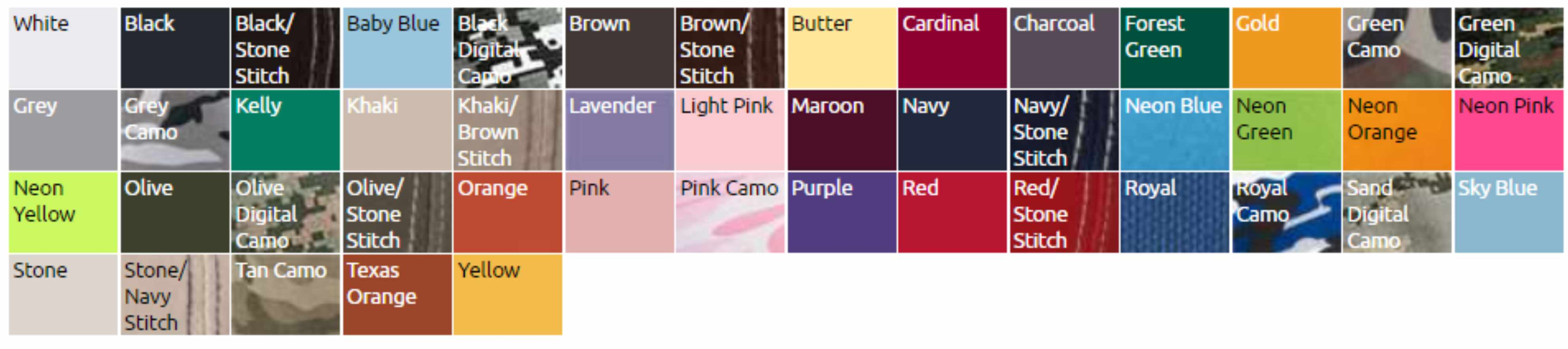 vc300a color chart