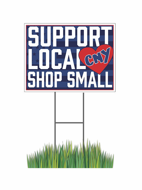 SUPPORT LOCAL SHOP SMALL SIGN