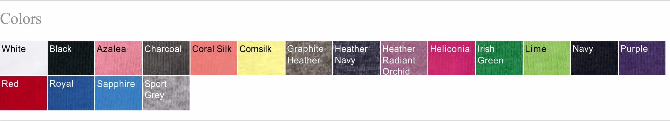 5V00L Color Chart