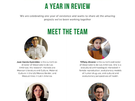 Year Anniversary - OLA Monthly Newsletter, Issue 1
