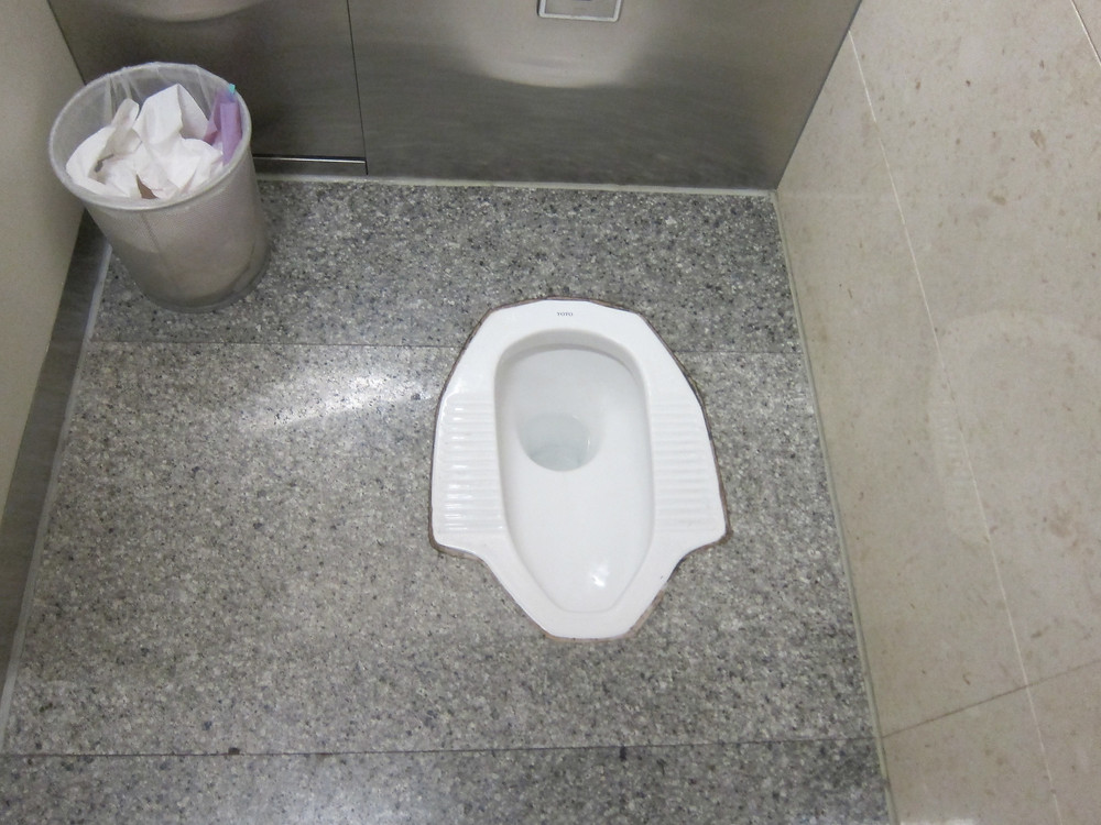 In-ground toilet used in other countries