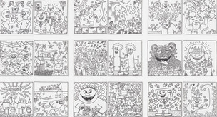 Haring Coloring Book with Original Illustration, 1985
