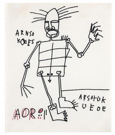 Jean-Michel Basquiat Untitled, circa 1981 Marker on paper 16 x 13 ¼ inches
