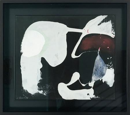 James Brooks  Sequoia, 1970 Acrylic on canvas 25 x 21 inches Signed lower left