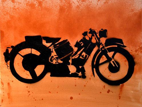 Steve McQueen Motorcycle - signed prints