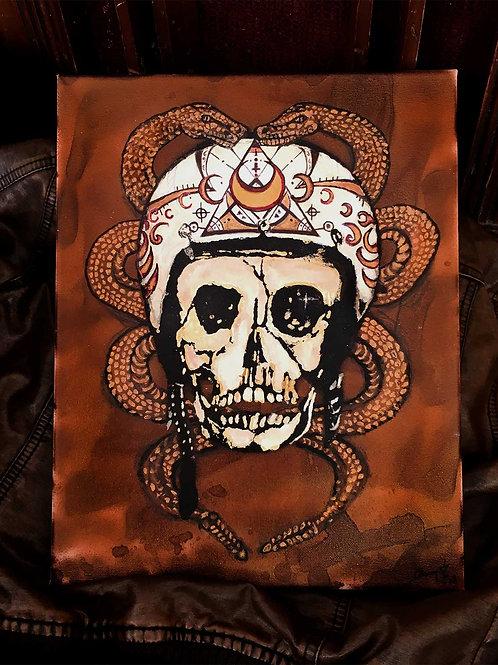 """Death Race Original - 11""""x14"""" Acrylic on Canvas"""