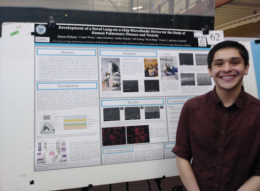 Marcus Williams and Cooper Wiens present posters on Lung On a Chip research
