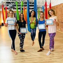 Just finished my Aerial Yoga Advanced Te