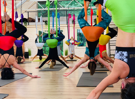 My First Aerial Yoga Class
