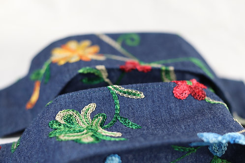 3D Origami Design - Embroidered Flowers