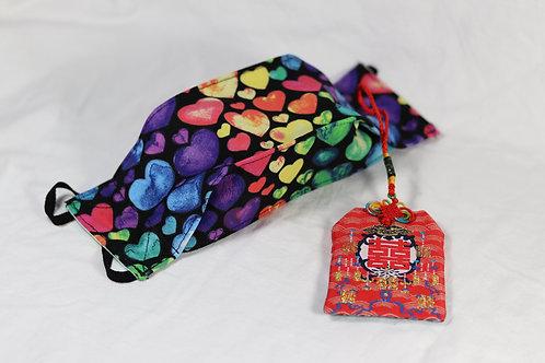 3D Origami Design - Rainbow Hearts