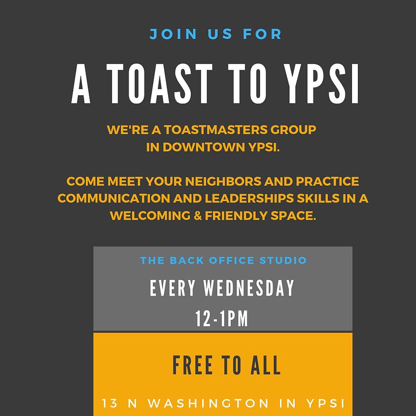 A Toast to Ypsi | Toastmasters International