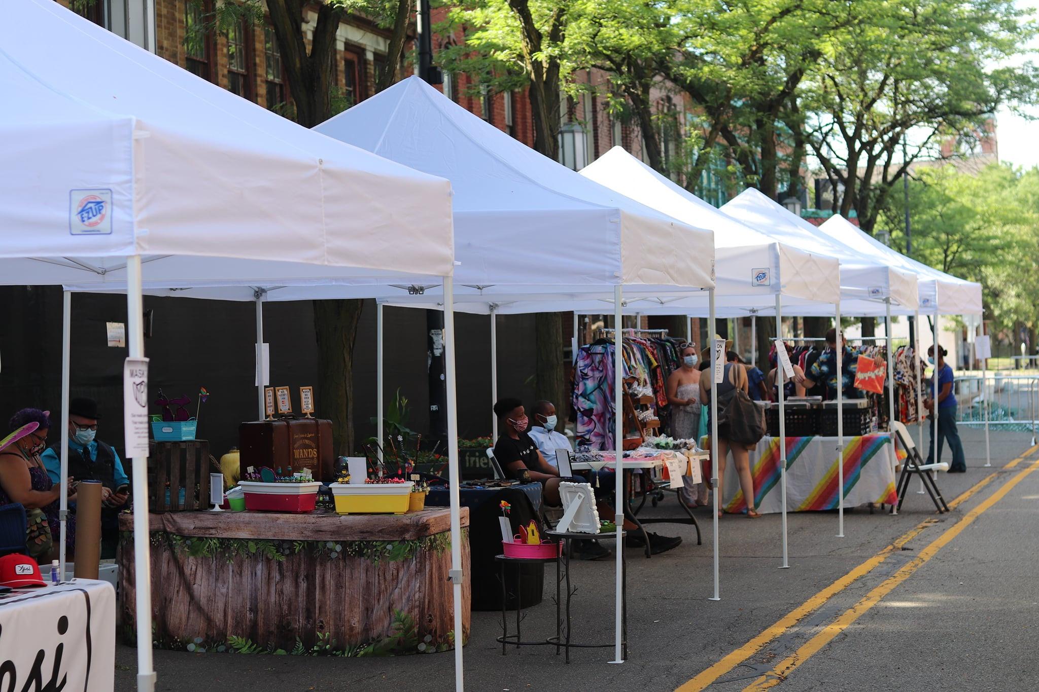 Pop Up Market Booth Reservation