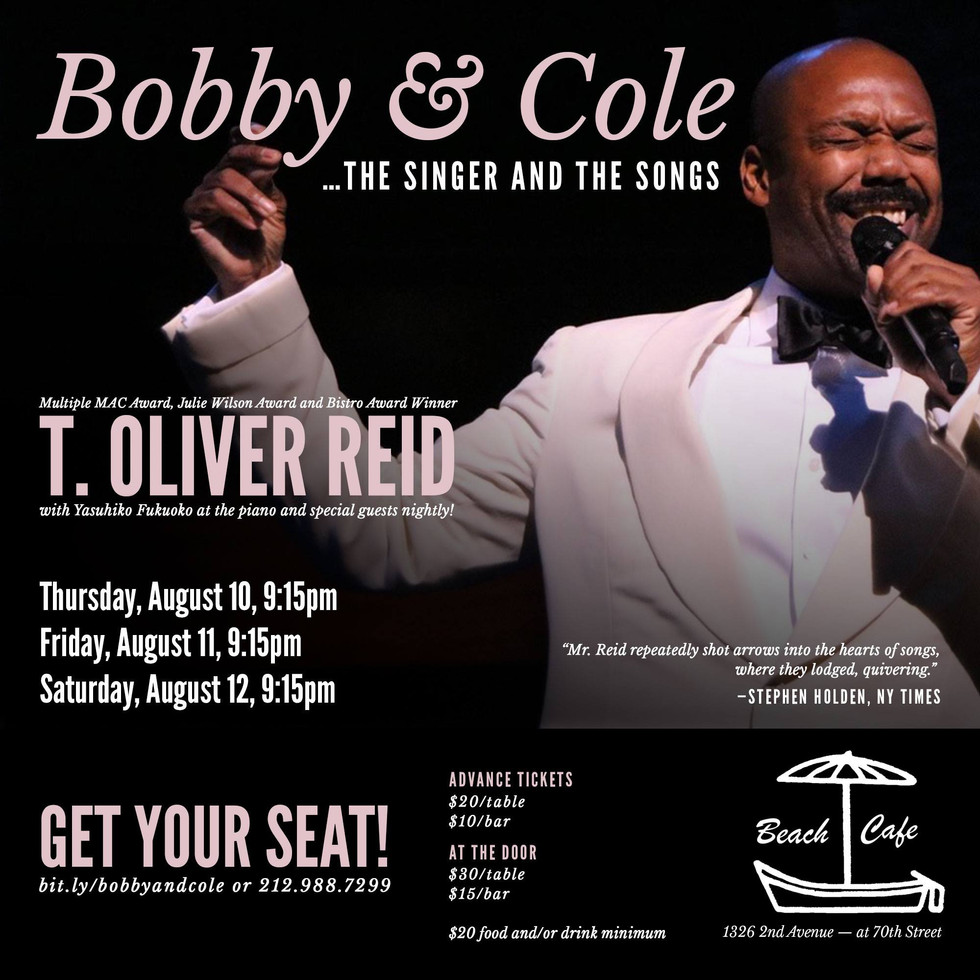"""Music Directing: T. Oliver Reid """"Boby and Cole ~ The Singer and The Songs"""""""