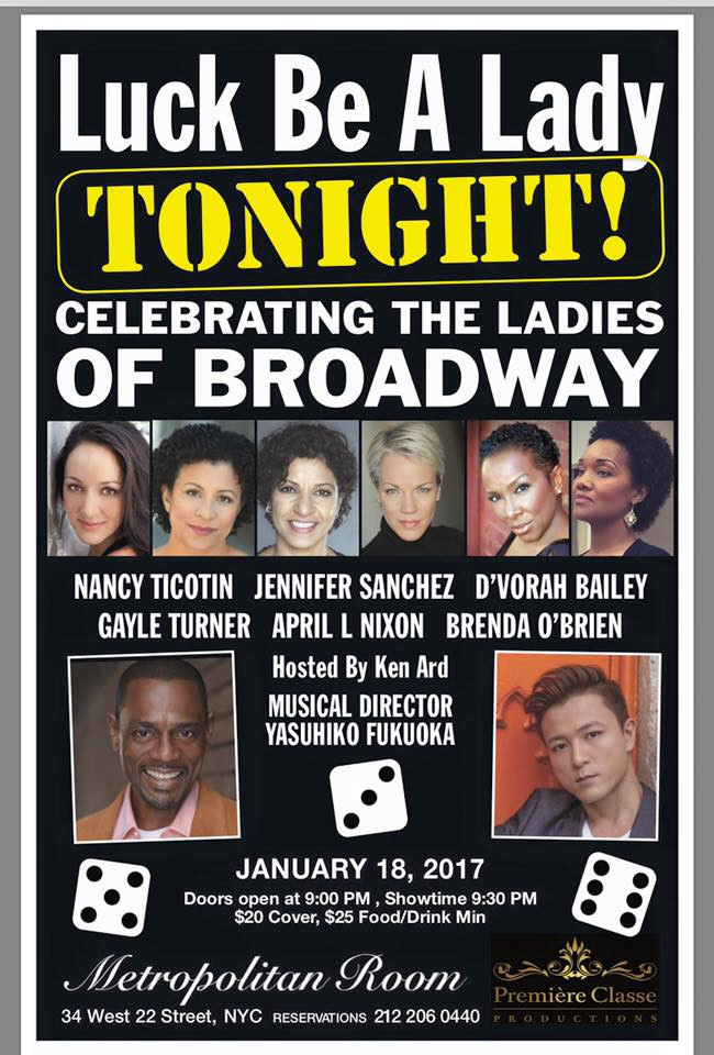 "Music Directing: ""Luck Be A Lady Tonight' ~ Celebrating the Ladies of Broadway"