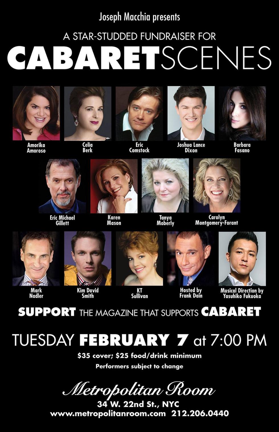 Music Directing: Cabaret Scenes Magazine fundraiser show
