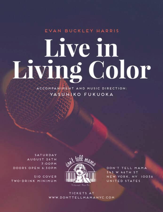 "Music Directing: Evan Buckley Harris ""Live  in Living Color"""
