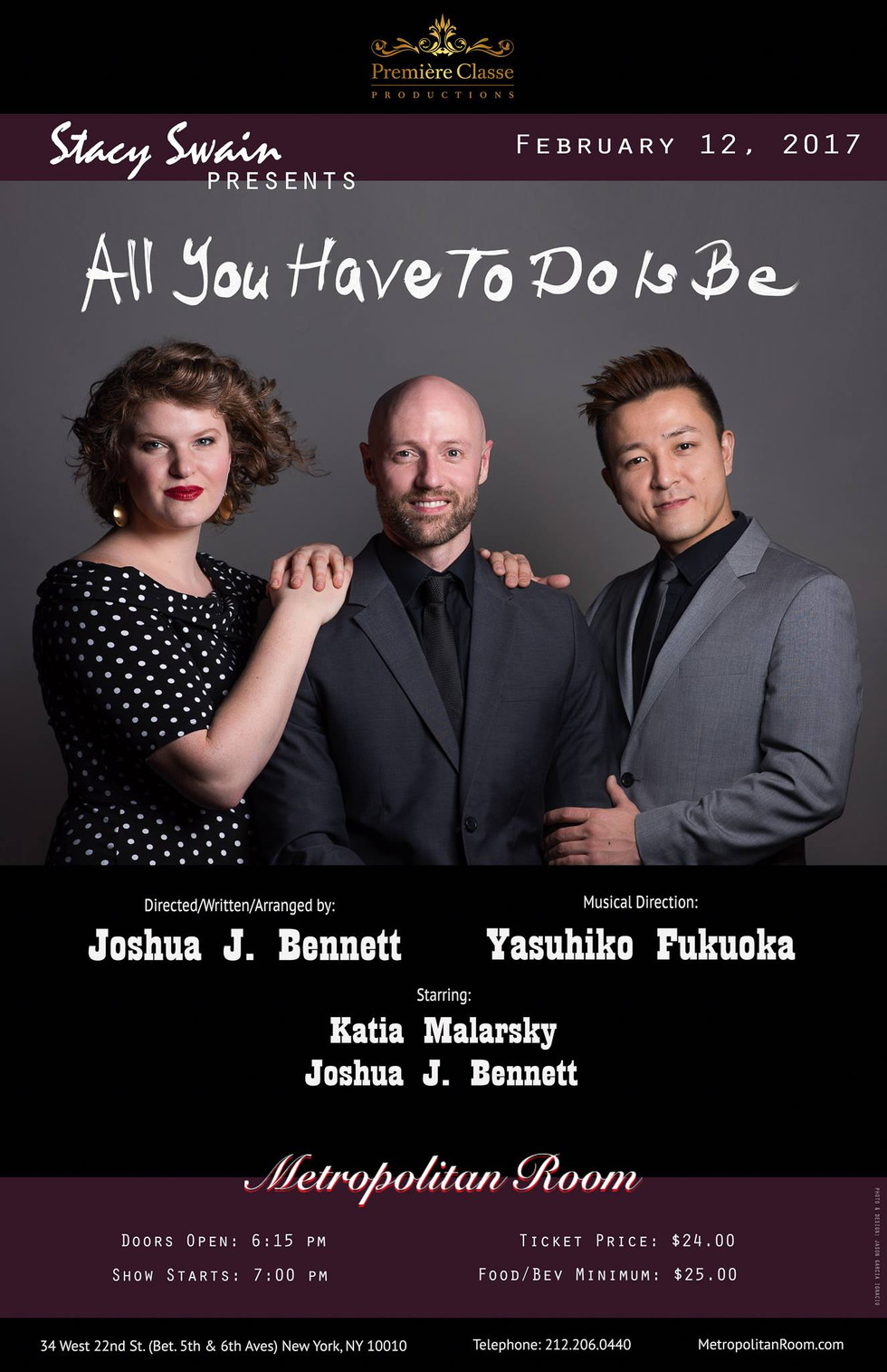 "Music Directing: Joshua Bennett and Katia Malarsky ""All You Have to Do it Be"""