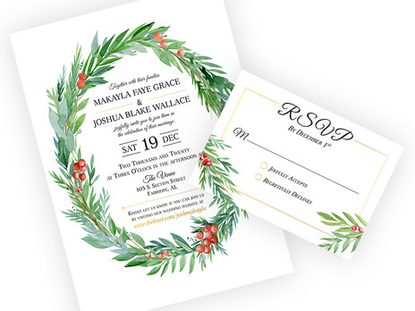 Wedding Invitation: Design and Layout