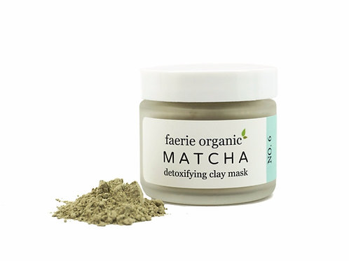 french green and matcha clay mask
