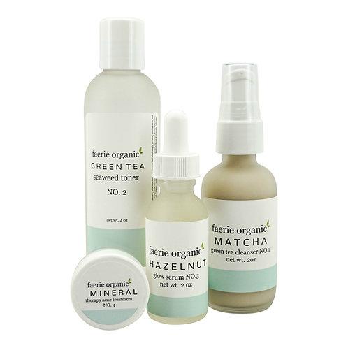 matcha green tea skincare kit (acne/oily)
