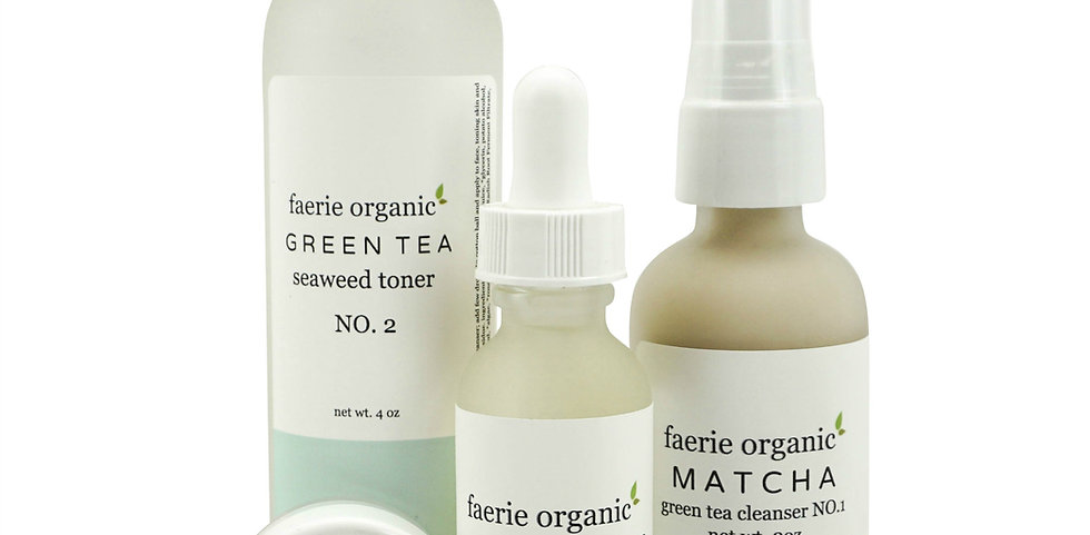 matcha green tea skincare kit (acne/oily)