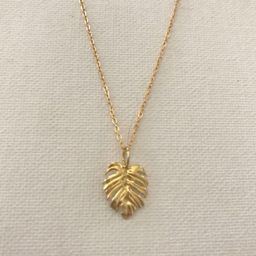 Keoni Monstera Gold Filled Necklace