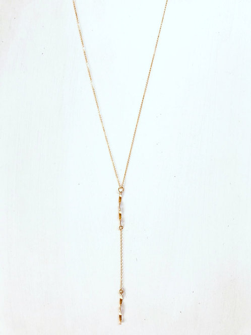 Chloe Long Twisted Charm Necklace