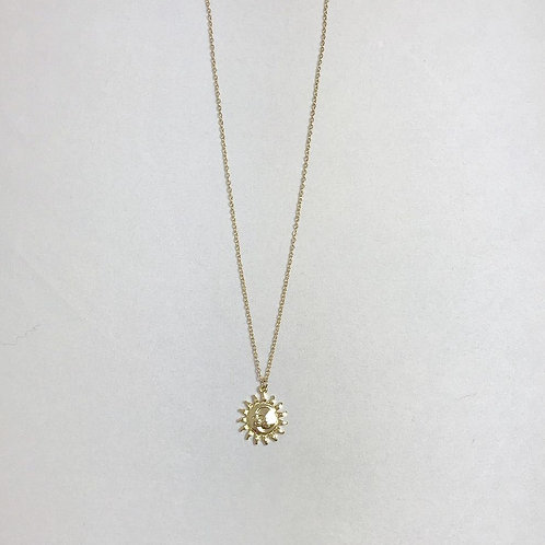 Sun and Moon Face Necklace