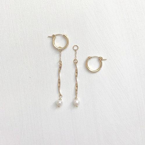 Noelani Twisted Bar Hoop Earrings