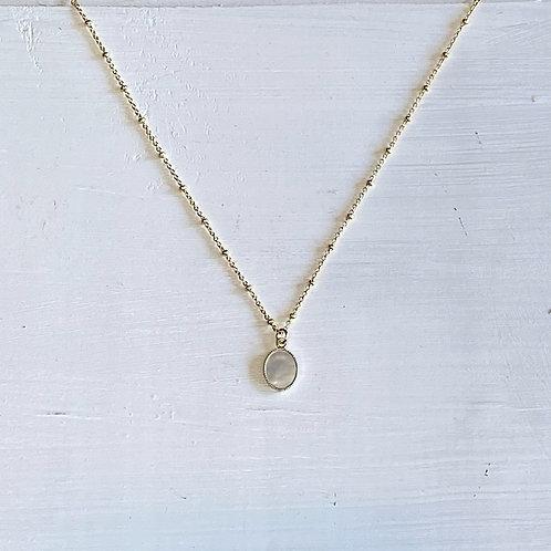 Amy MOP Pendant Necklace