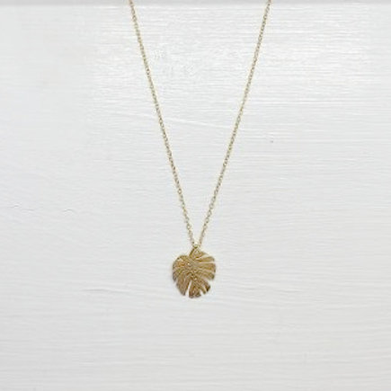 Yoko Monstera Necklace