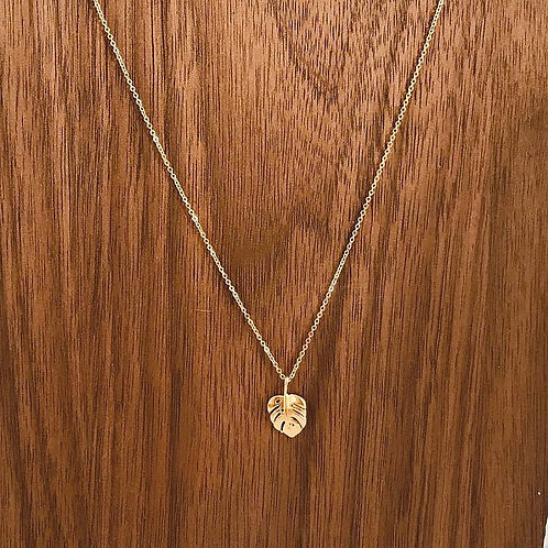 Lii Small Monstera Necklace
