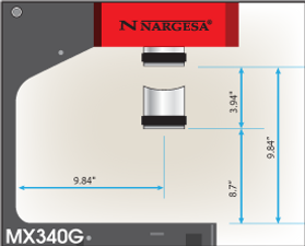 MX340G Dimensions