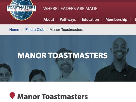 Manor Toastmasters Club