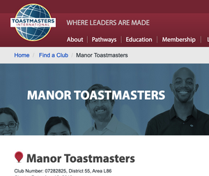 Manor Toastmasters where leaders are made