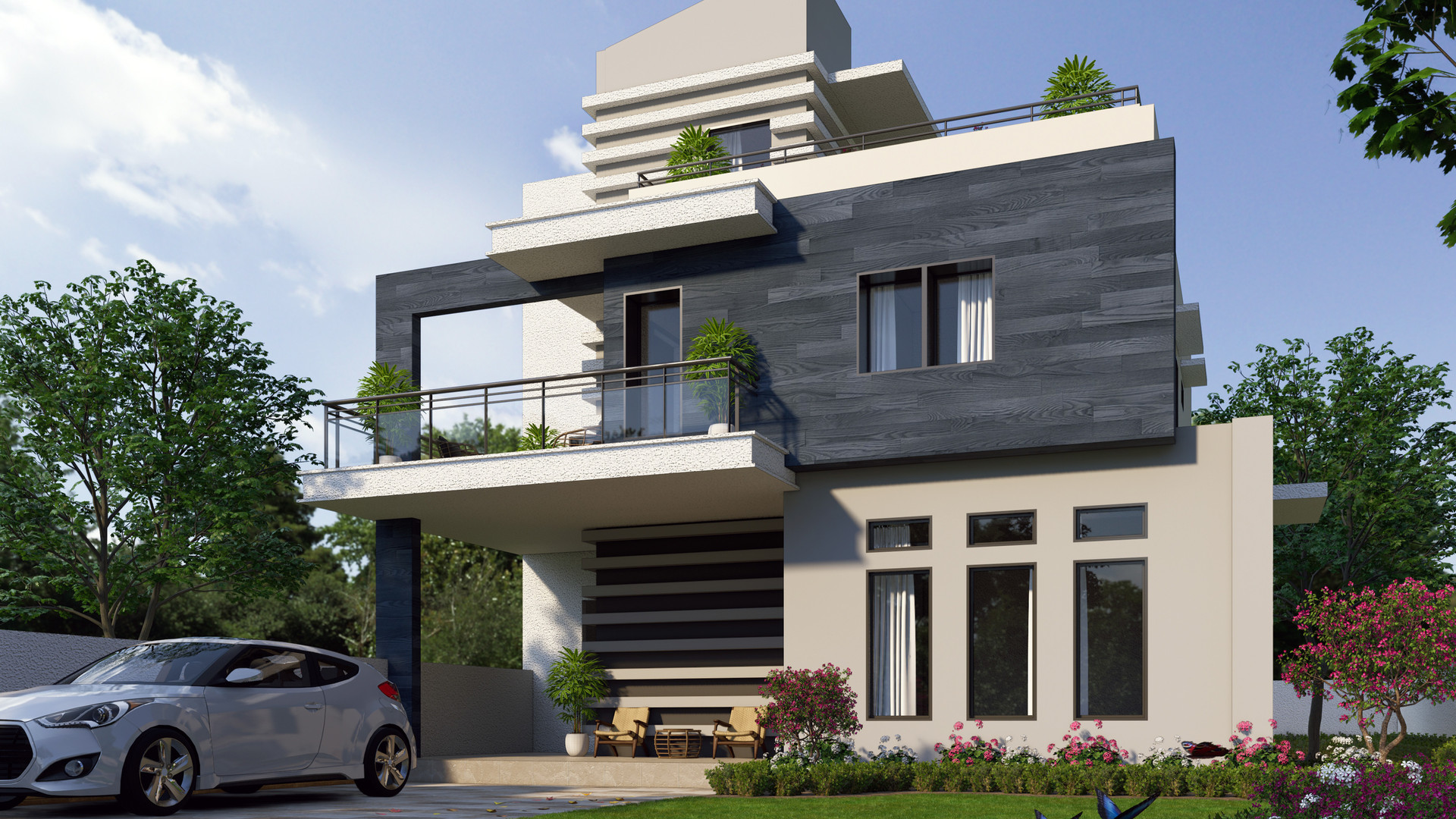 Two-Storey Residential with Roof Deck