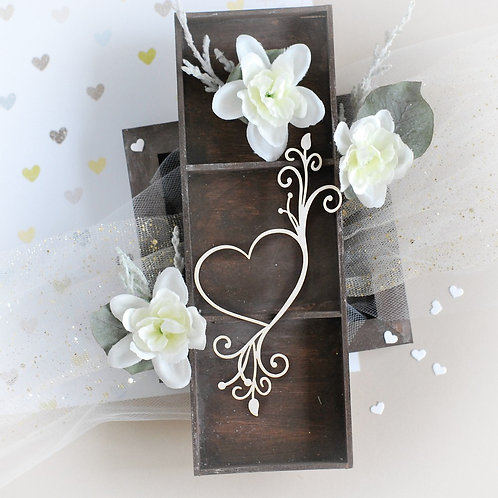 Heart 016 – Decorative laser cut chipboard