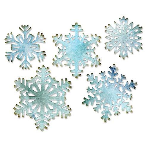 Sizzix Thinlits Dies By Tim Holtz 5/Pkg Paper Snowflakes