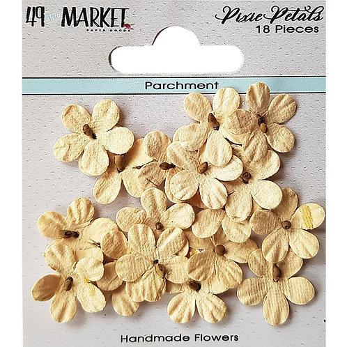 49 And Market Pixie Petals 18/Pkg Parchment
